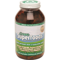 MicrOrganics Green Nutritionals Green Superfoods 600mg 250 Vegetable Capsules