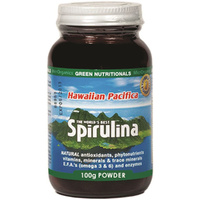 MicrOrganics Green Nutritionals Hawaiian Pacifica Spirulina 100g Powder