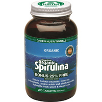 MicrOrganics Green Nutritionals Mountain Organic Spirulina 500mg 200 Tablets