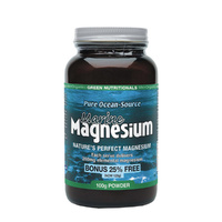 MicrOrganics Green Nutritionals Pure Ocean-Source Marine Magnesium 100g Powder