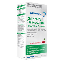 Apohealth Childrens Paracetamol Baby Drops 1 months - 2 years 20ml