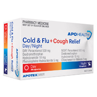 ApoHealth Cold & Flu + Cough Relief Day/Night 48 Capsules