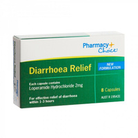 Pharmacy Choice Diarrhoea Relief Capsule 8
