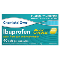 Chemists Own Ibuprofen Liquid 200mg 40 Capsules