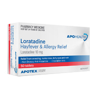 APOHEALTH Loratadine 10mg 50 Tablets