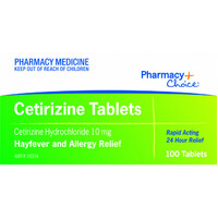 Pharmacy Choice Cetirizine Hydrochloride 10mg 100 Tablets