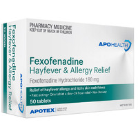 APOHEALTH Fexofenadine Tab 180mg 50 Tablets