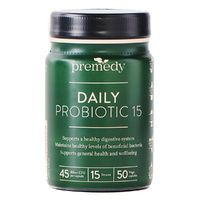 Premedy Daily Probiotic 15 50 Vegetable Capsules
