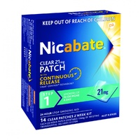 Nicabate Clear 21mg Patch Step 1 Patches 14