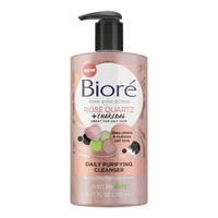 Biore Rose Quartz + Charcoal Daily Purifying Cleanser 200mL