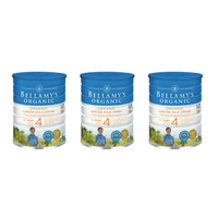 Bellamy's Organic Junior Milk Drink Step 4 900g [Bulk Buy 3 Units]