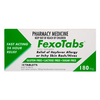Fexotabs 180mg 10 Tablets