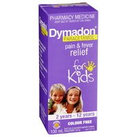 Dymadon Pain & Fever Relief for Kids 2 years - 12 years 100mL