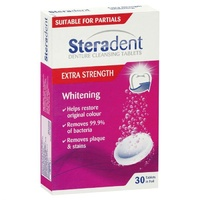 Steradent Extra Strength Whitening Tablets 30 Tablets