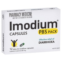 Imodium 2mg Capsules PBS 12 Pack