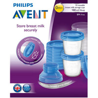 AVENT Breast Milk Storage Containers 10x 180mL