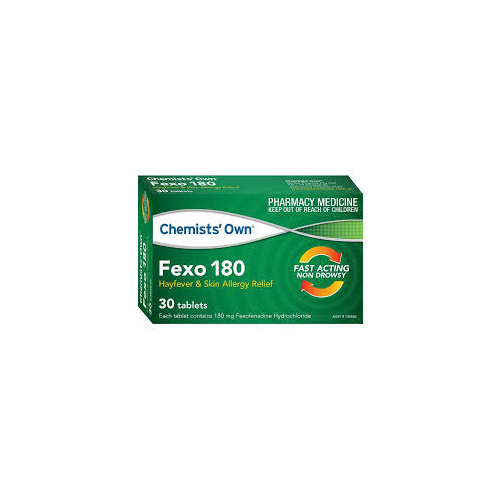 Chemists' Own Fexo 180 30 Tablets  (Telfast 180mg GENERIC)